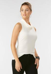 Cowl Neck Ribbed Tank