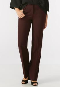 Tonal Plaid Trouser Pants