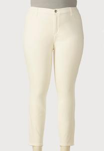 Colored Sateen Super Skinny Jeans-Plus