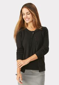 Pointelle Edge Cardigan