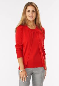 Pointelle Sweater Cardigan