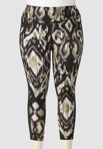 Ikat Performance Crop Leggings-Plus