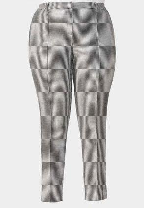 Houndstooth Pencil Pants- Plus