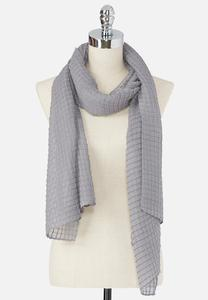 Box Pleat Oblong Scarf