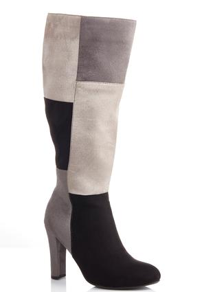 Wide Width Patchwork Tall Boots