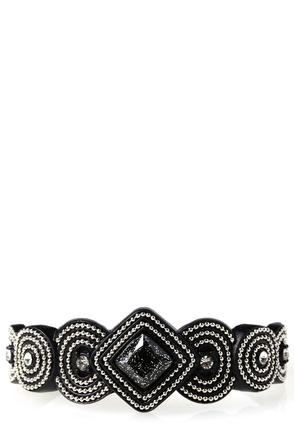 Ball Chain Embellished Cuff Bracelet