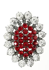 Haloed Stone Cluster Brooch