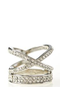 Pave Cross Band Ring