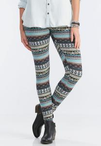 Paisley Striped Leggings