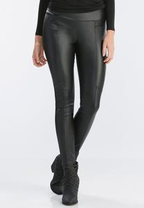 Coated Pull-On Slim Leg Pants