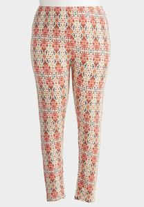 Ancient Aztec Leggings-Plus