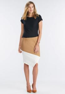 Textured Colorblock Sheath Dress