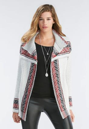 Arrowhead Striped Cardigan