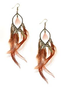 Feather Star Dangle Earrings
