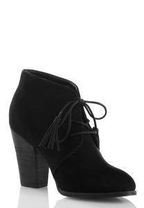 Tasseled Lace Up Shooties