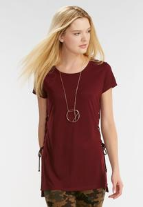Lace Up Side Tunic-Plus