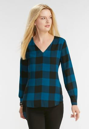 Buffalo Plaid Extreme High- Low Top