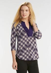 Speckled Checkered High-Low Top