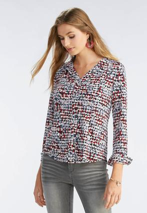 Abstract Print Popover Top- Plus
