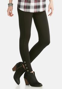 Snap Button Ponte Leggings