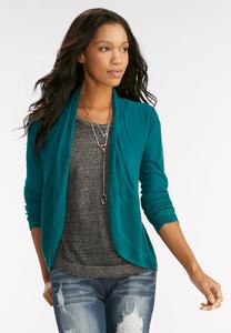 Pointelle Inset Cardigan-Plus