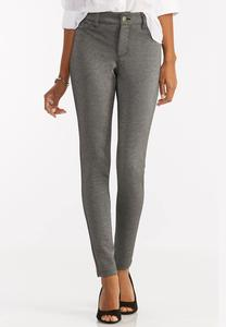 Metallic Ponte Skinny Pants