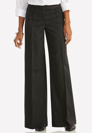 Pinstriped Wide Leg Pants