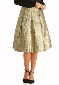Metallic A-line Skirt-Plus