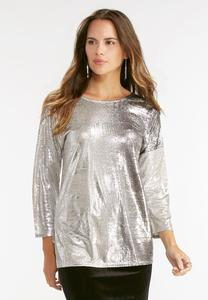 Two-Tone Metallic Top-Plus