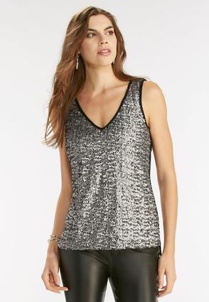 The Socialite Sequin Front Tank