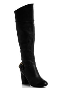 Wide Width Buckled Gored Back Tall Boots