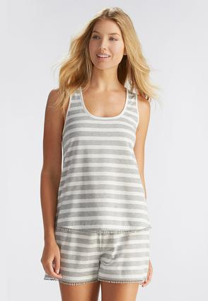 Striped Racerback Sleep Tank