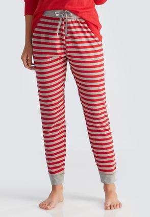 Striped Drawstring Sleep Joggers