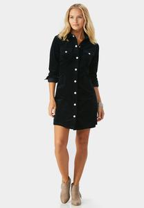Corduroy Shirt Dress-Plus