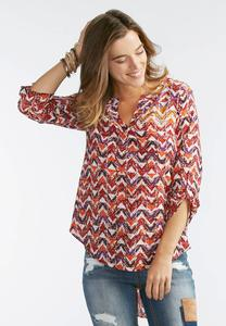 Speckled Chevron High-Low Top