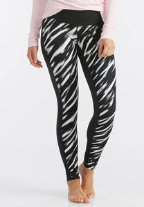 Streaky Striped Performance Leggings