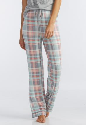 Plaid Drawstring Pajama Pants