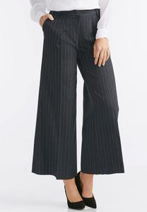 Lurex Pinstriped Wide Leg Crops