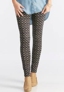 Mixed Geometric Print Ponte Leggings