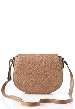 Embossed Front Saddle Bag
