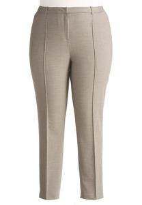 Textured Pencil Pants-Plus