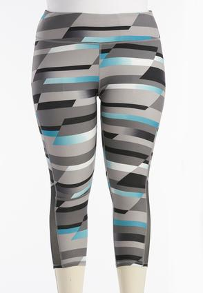 Colorblock Performance Crop Leggings- Plus
