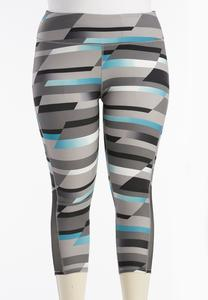 Colorblock Performance Crop Leggings-Plus