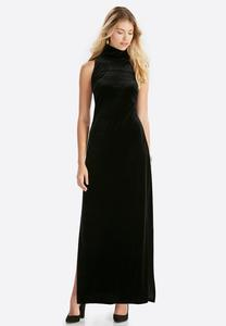 The Knockout Velvet Maxi Dress-Plus