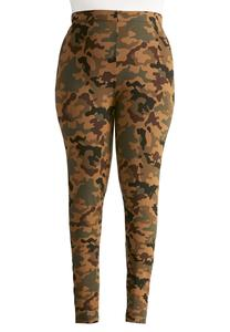 Camouflage Leggings-Plus