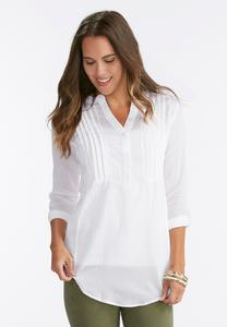 Pleated Bib Popover Top-Plus