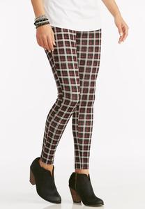 Plaid Ponte Leggings