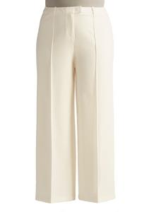 Tailored Wide Leg Pants-Plus