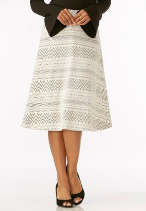 Tribal Jacquard Midi Skirt- Plus