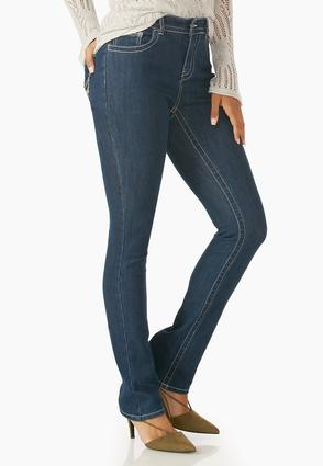 Metallic Stitched Bootcut Jeans- Petite